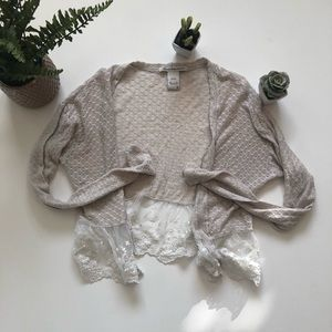 Cream and Lace Cardigan